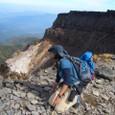 八ヶ岳 硫黄岳からの爆裂口